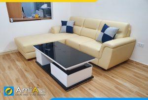 Ghế sofa da góc chữ L hiện đại cho phòng khách AmiA240