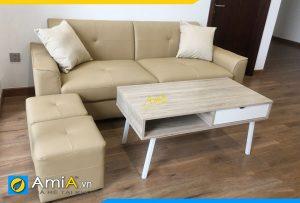 mau sofa vang mini cho phong khach chung cu amia pk202