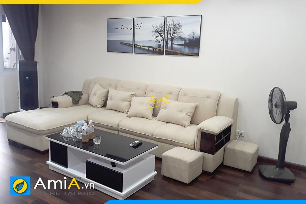 sofa ni phong khach mau trang