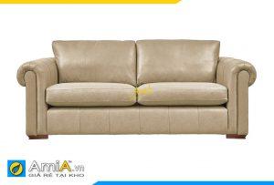 Ghế sofa da tân cổ điển đẹp và hiện đại AmiA 20066