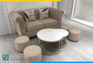 sofa vang ni tan co dien sang trong amia pk508