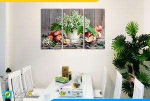 Hình ảnh Tranh bình hoa và quả treo tường phòng ăn bàn ăn hiện đại AmiA 501