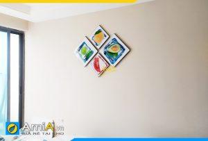 Hình ảnh Tranh chủ đề hoa quả trang trí phòng ăn đẹp hiện đại AmiA 308