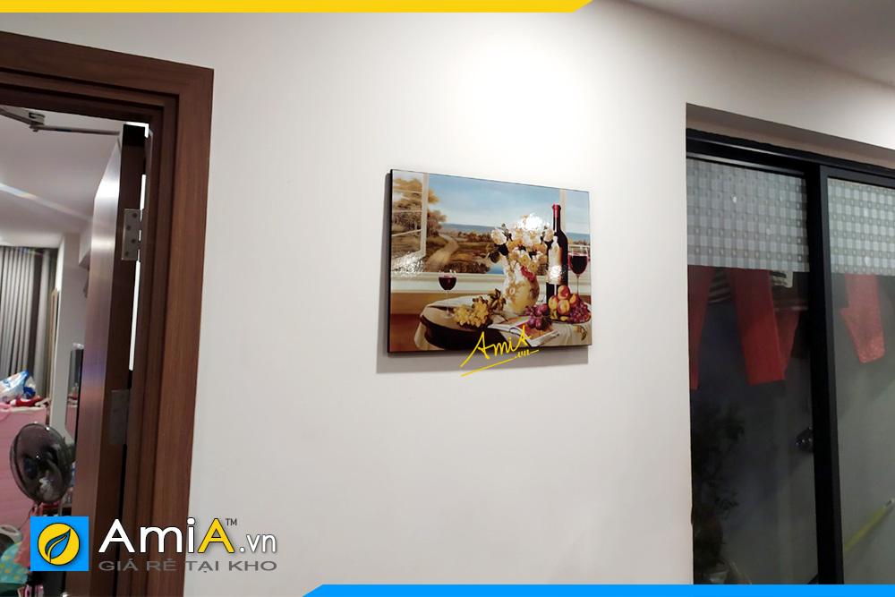 Hình ảnh Tranh đẹp treo tường bàn ăn chủ đề rượu vang 1 tấm AmiA 1776