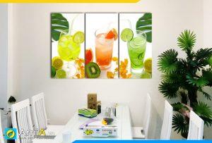 Hình ảnh Tranh đồ uống treo tường bàn ăn phòng ăn đẹp ngon bắt mắt AmiA 307