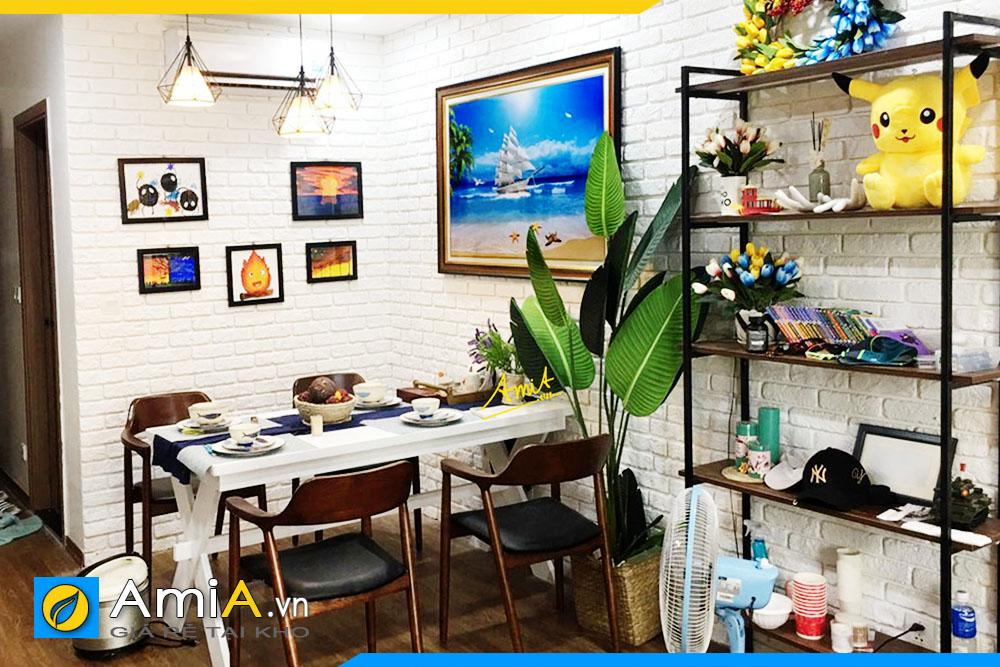 Hình ảnh Tranh phòng ăn bàn ăn chủ đề thuyền buồm đẹp ý nghĩa AmiA 1600