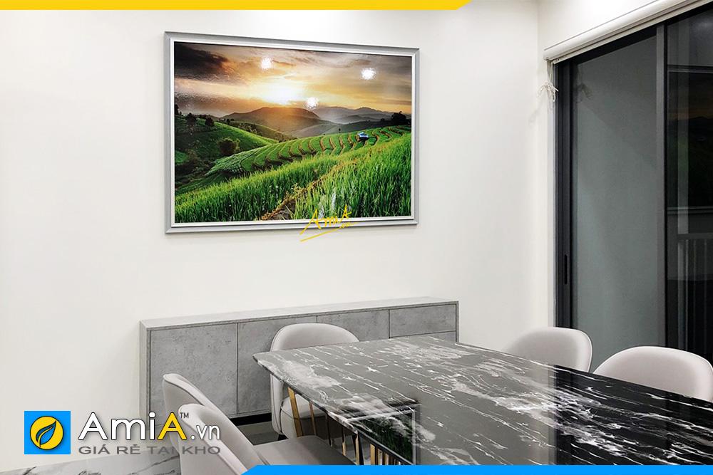 Hình ảnh Tranh phong cảnh ruộng bậc thang treo bàn ăn đẹp AmiA RBT137