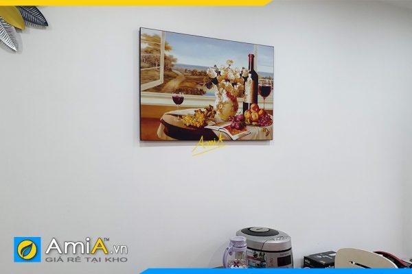 Hình ảnh Tranh rượu vang 1 tấm không khung treo bàn ăn đẹp AmiA 1776