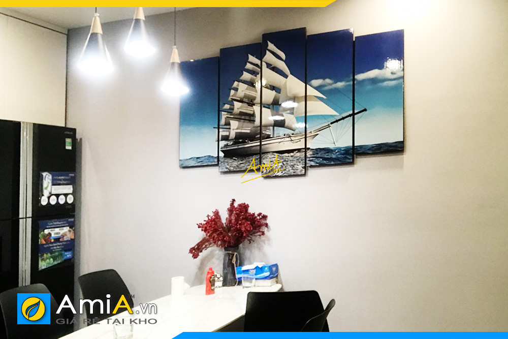 Hình ảnh Tranh trang trí tường bàn ăn thuận buồm xuôi gió AmiA 330