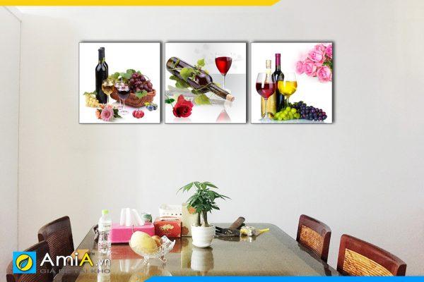 Hình ảnh Tranh treo bàn ăn chủ đề rượu vang đẹp sang trọng và lãng mạn AmiA 1541