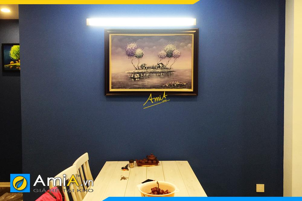 Hình ảnh Tranh treo bàn ăn nhà bếp phong cảnh vẽ sơn dầu khổ nhỏ