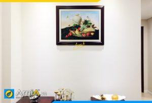 Hình ảnh Tranh treo bàn ăn phòng ăn đẹp chủ đề bình hoa AmiA 1022