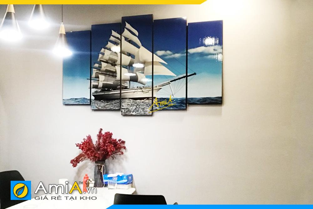 Hình ảnh Tranh treo bàn ăn phòng ăn thuận buồm xuôi gió AmiA 330
