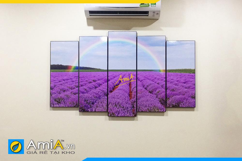 Hình ảnh Tranh treo phòng ăn cánh đồng hoa oải hương AmiA 3003