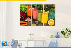 Hình ảnh Tranh treo tường bàn ăn đẹp hiện đại nước sinh tố hấp dẫn AmiA DU20