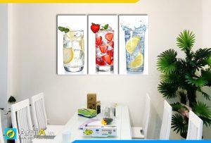 Hình ảnh Tranh treo tường bàn ăn nước detox hoa quả hấp dẫn AmiA 315