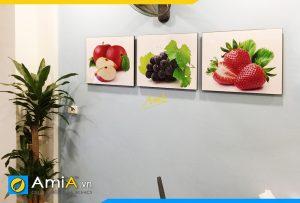 Hình ảnh Tranh treo tường bàn ăn phòng ăn chủ đề trái cây AmiA 635