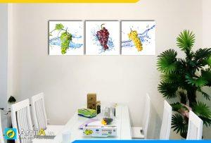 Hình ảnh Tranh treo tường chùm nho chín mọng cho bàn ăn phòng ăn AmiA 1176