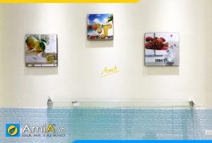 Hình ảnh Tranh treo tường hoa quả đẹp bắt mắt cho phòng ăn nhà bếp AmiA 547
