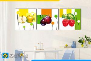 Hình ảnh Tranh treo tường phòng ăn chủ đề hoa quả trái cây AmiA 485