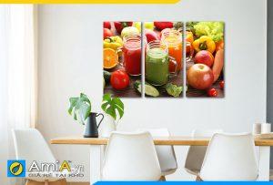 Hình ảnh Tranh treo tường phòng ăn nhà bếp đẹp nước ép trái cây AmiA DU19
