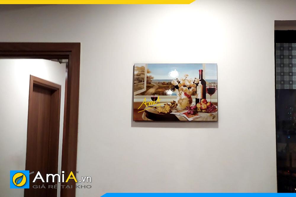 Hình ảnh Tranh treo tường phòng ăn rượu vang hoa và quả AmiA 1776
